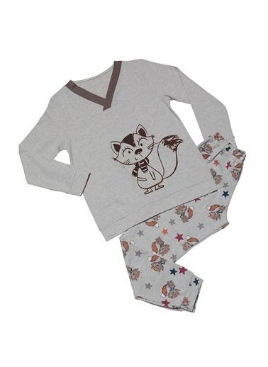Hays Kids Kız Çocuk 2Li Pijama Takımı Bej